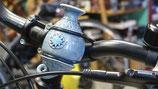 Die Fahrradvase Modell Nr. 6 jeansblau
