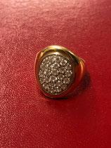 Anello in oro 18 Kt con cabochon di diamanti