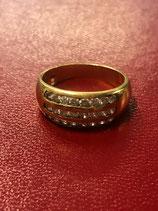 Anello in oro 18 kt con diamanti