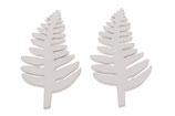 10 Holzblätter 9 cm x  0,3 cm, Deko Blätter aus Holz Farbe weiß zum Dekorieren und Basteln