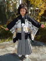 鷹文様羽織袴(5歳)