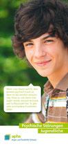 Informationsflyer der aphs: Psychische Störungen Jugendliche