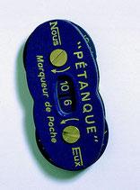 La boule bleue-marqueur de points
