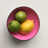 Bunt lackierte Deko-Schälchen aus Kokos