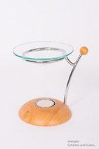 Teelicht edel aus Holz & Glas