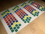Klebepunkte für 8-Farben Tastenmarkierung