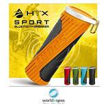 HTX Sport - Bluetooth Lautsprecher mit Powerbank Funktion, spritzwassergeschützt für Whirlpools