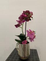 Orchideen Purple Silbertopf gehämmert Nr 111