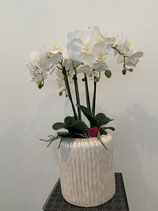 Orchideenvase Keramik weiss Nr 108