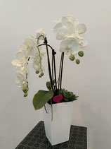 Orchideenvase weiss Nr 104