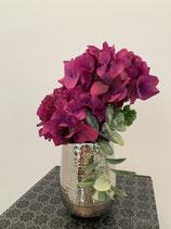 Hortensien Pink in Silbertopf gehämmert Nr 115