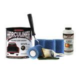 Herculiner 7m2 Kit schwarz mit UV Schutz Beschichtung für Ladefläche PU Laderaumbeschichtung