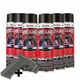 Herculiner Spray 7 m² schwarz, Beschichtung für Ladeflächen uvm, Set