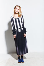Raglan Dress Long Light Stripes