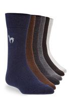 BUSINESS SOCKEN elegante Strick-Socke mit Alpaka Logo für Herren und Damen