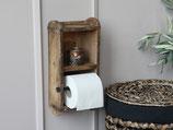 Toilettenrollenhalter Holz alte Ziegelform zum Hängen