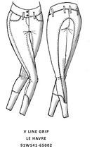 Vestrum comp. breeches Le Havre knee grip