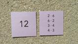 Lernkartei: 1x1 Ergebniszahlen (Faktorzerlegung)