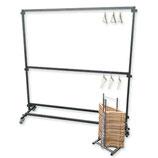 Garderobe 2 meter 50 hangers/nummers