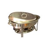 Chafing-dish ovaal incl. 2 brandpasta