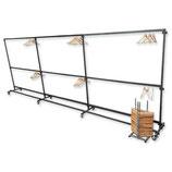 Garderobe 6 meter 150 hangers/nummers