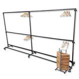 Garderoberek 4 meter met 100 hangers