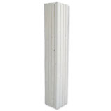 Plantenzuil wood white 32,5x32,5x195cm