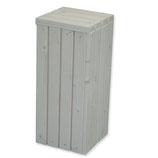 Plantenzuil wood white 32,5x32,5x70cm
