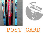 Post card from your chosen country + your own sticker + the official sticker and bracelet