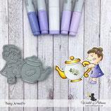 Stempel - Teddy und Freunde - Puppe mit Teekanne