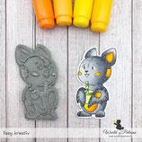 Stempel - Teddy und Freunde - Fledermaus