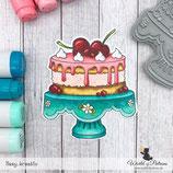 Stempel - Teddy und Freunde - Torte
