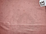 Musselin Altrosa - silberne Pünktchen