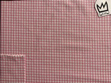 Baumwollstoff  rosa weiss kariert