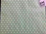 Beschichtete Baumwolle Weisse Sterne auf Mint