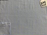 Baumwollstoff  hellblau weiss kariert