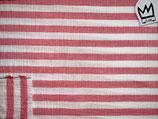 Musselin Rot-Weiss-Gestreift