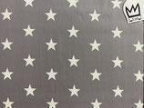 Baumwollstoff  Sterne grau weiss