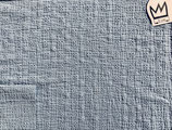 Musselin gestickt Jeansblau