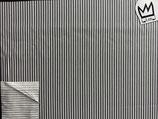 Baumwollstoff  Streifen fein grau weiss
