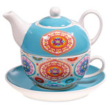 TEA FOR ONE MANDALA BLAUW