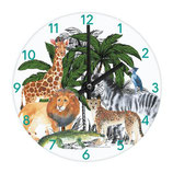 KIDS WALL AND TALBE CLOCK SAFARI