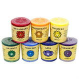 Chakras votive aromatic candles 7 x in giftbox(4.5x4cm)