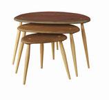 ネストテーブル(トリオテーブル) ウォールナット天板タイプ