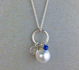 Personalized blue Sapphire Necklace, Size M