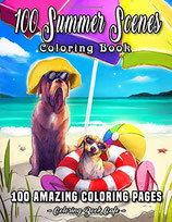 Coloring Book Cafe - 100 Summer Scenes