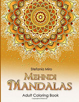 Mehndi Mandalas - Adult Coloring Book White Background