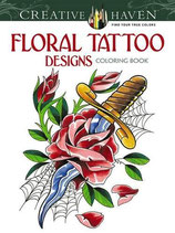 Floral Tattoo Designs Coloring Book