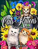 Coloring Book Cafe - Cats & Kittens