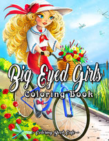 Coloring Book Cafe - Big Eyed Girls